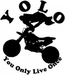 Yolo You Only Live Once Dirt Bike Trick Car Or Truck Window Decal Sticker Rad Dezigns