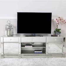 athens silver mirrored tv entertainment