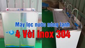 Máy lọc nước uống nóng lạnh vỏ inox 4 vòi cong WASAPURE - YouTube