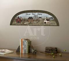 Country Arch Folk Art Accent With Wall Decal Wallpaper Mural Art Com