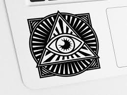 All Seeing Eye Decal Eye Of Providence Vinyl Sticker Decal Etsy