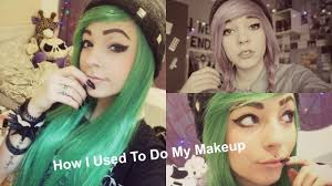 how i used to do my makeup emo scene