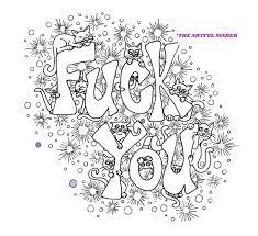 Fuck You Volwassen Kleurplaat Van De Kunstzinnige Maker Etsy
