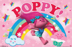 Trolls Poppy Poster Contemporary Kids Wall Decor By Trends International