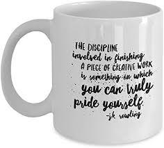 com writing inspiration quotes coffee mug jk rowling