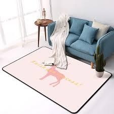 Pink Deer Carpet For Living Room Bedroom Door Porch Kitchen Window Leisure Household Area Rug Kids Room Play Crwaling Tapete Carpet Aliexpress