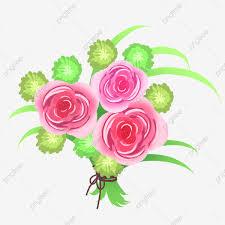 من ناحية رسم باقة من الزهور الزهور الوردية التوضيح الكرتون