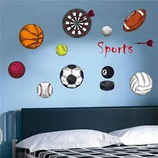 Vova Kids Room Kindergarten Cartoon Balls Wall Decorative Basketball Soccer Sports Sticker Home Decoration Wall Art Wall Stickers Wall Art Stickers Wall Art For Living Room