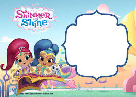 Free Shimmer And Shine Invitation Template Con Imagenes