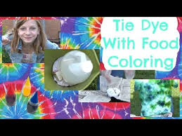 tie dye with food coloring ommygoshtv