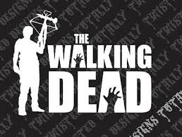 The Walking Dead Vinyl Car Truck Decal Sticker Daryl Dixon Crossbow Walker Hand Ebay