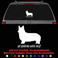 Amazon Com Got Pembroke Corgi Dog Pet Die Cut Vinyl Decal Sticker For Car Truck Motorcycle Vehicle Window Bumper Wall Decor Laptop Helmet Size 20 Inch 50 Cm Tall Color Gloss Black