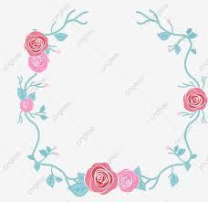 ورود مرسومة باليد وحدود مرسومة باليد وحدود ورود وزهور مرسومة