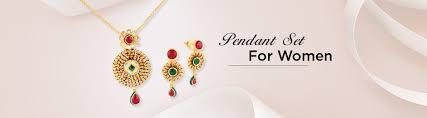 gold pendant set designs for women