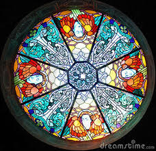 round church stained glass stained