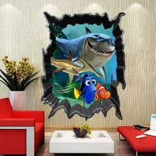 Finding Nemo Bruce Dory Fish 3d View Art Wall Stickers Decals Kids Room Decor Room Decoration Kids Room Decorationfinding Nemo Aliexpress