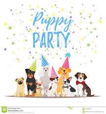 Tarjeta De Felicitacion De La Fiesta De Cumpleanos Del Perro