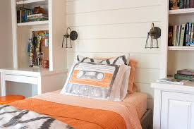 Kids Room With Built In Desk Next To Bed Contemporary Boy S Room