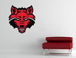 Arkansas State Red Wolves Wall Decal Vinyl Sticker Cornhole Extra Large Ebay