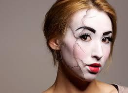 broken ventriloquist doll makeup