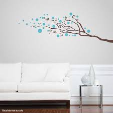 Dotty Tree Branch Wall Decal Abstract Wall Decal