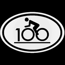 Century Ride Bike Race 100 Club Fitness Vinyl Decal Sticker
