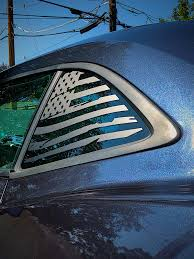 Distressed Quarter Window Flag Decal 2010 15 Chevy Camaro Elevated Auto Styling