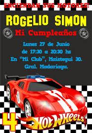 Invitacion Hot Wheels Cumpleanos De Hot Wheels Fiesta De Hot