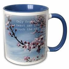 east urban home inspirational zen cherry blossom rumi floral