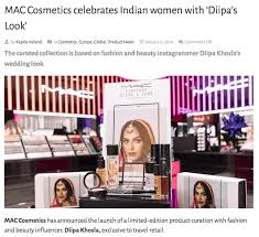 diipa khosla and her collab with mac