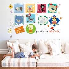 Removable Adorable Peel And Stick Cartoon Animals Big Eyes Wall Stickers Wallpaper For Nursery Home Buy At A Low Prices On Joom E Commerce Platform