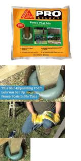 Lawn And Garden 40145 Sika Pro Self Expanding Foam Lets You Set Up Fence Posts Fence Foam Garden Lawn L In 2020 Expanding Foam Fence Post Concrete Fence Posts