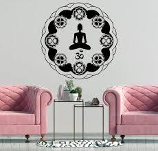 Amazon Com Mandala Wall Decal Meditation Wall Decor Yoga Studio Art Bohemian Bedroom Decal Vinyl Decal Mandala Interior Design Art Decal Decor And Stick Wall Decals Home Kitchen
