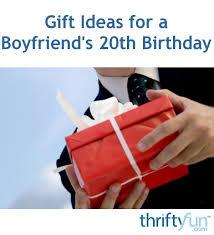 gift ideas for a boyfriend s 20th