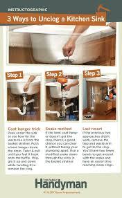 unclog a kitchen sink kitchen sink