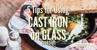cast iron on glass top stoves