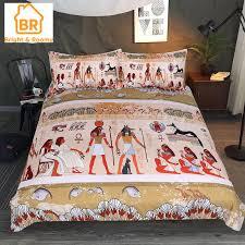 ancient egyptian bedding set 3pcs red