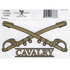 U S Army Cavalry Crossed Swords Outside Car Decal Sticker Pack Of 2 Clear 5 5x4 Walmart Com Walmart Com