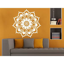 Shop Beautiful Flower Mandala Wall Art Sticker Decal White Overstock 11966038