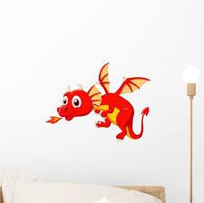 Cute Dragon Cartoon Wall Decal By Wallmonkeys Peel And Stick Graphic 12 In W X 9 In H Wm356241 Baby B014uhq8n6