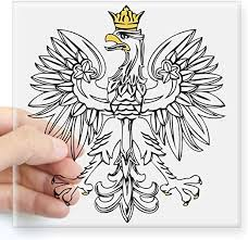Amazon Com Cafepress Polish Eagle With Gold Crown Square Sticker 3 X 3 Square Bumper Sticker Car Decal 3 X3 Small Or 5 X5 Large Home Kitchen
