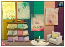 lintharas sims 4 paintings cushions