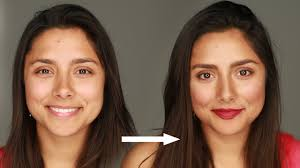 women learn how to do makeup for the