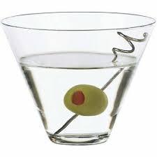libbey 12pc stemless martini glasses w