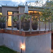 Cable Railing Idea For A Modern Home Deck Railing Ideas