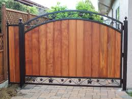 Wrought Iron And Wood Fence Designs Ideas Impressive Wooden Gate Designs With Outstanding Modern Style For Home Safety Ideas Woodsinfo