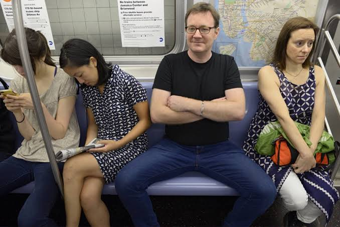 Image result for no space sitting in public transport""