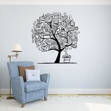 Amazon Com Books Tree Wall Vinyl Decal School Library Education Wall Sticker Classroom Interior Living Room Window Decals Housewares Design Custom Decals Door Stickers Wall Graphics 11 Nr Home Kitchen