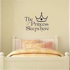 Sweet The Princess Sleeps Here Wall Sticker Decal Kid Room Decor Removable Ebay