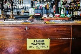 A British Pub Put Up An Electric Fence To Enforce Social Distancing Food Wine